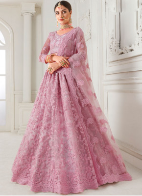 Pink Wedding Trendy A Line Lehenga Choli