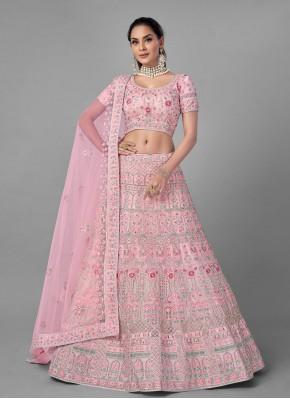 Piquant Pink Fancy Lehenga Choli