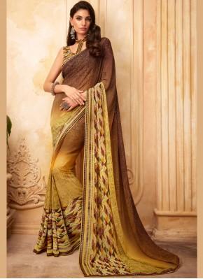 Pleasance Multi Colour Printed Saree