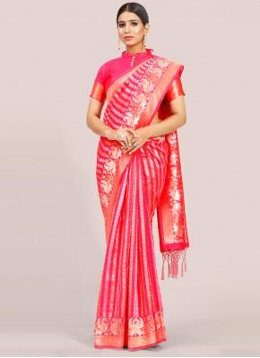 Pleasance Weaving Rani Traditional Designer Saree