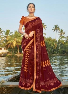 Pleasing Multi Colour Printed Saree