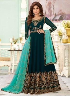 Pleasing Resham Salwar Suit