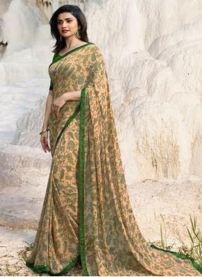 Prachi Desai Faux Georgette Abstract Print Multi Colour Printed Saree