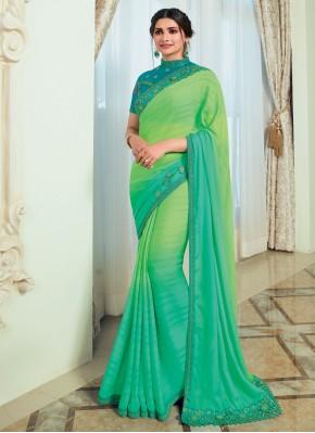 Prachi Desai Shaded Saree For Ceremonial