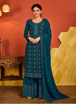 Praiseworthy Rama Ceremonial Designer Palazzo Salwar Suit