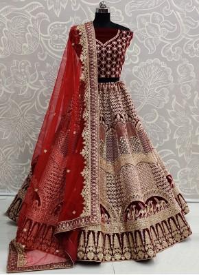 Praiseworthy Velvet A Line Lehenga Choli