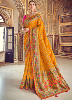 Precious Embroidered Designer Traditional Saree