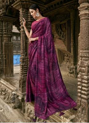 Precious Faux Chiffon Printed Trendy Saree