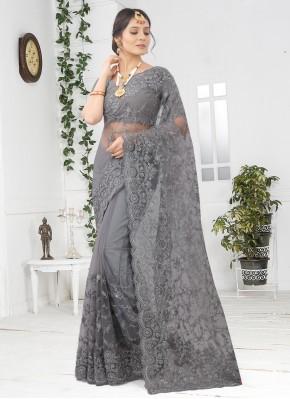 Precious Grey Designer Saree