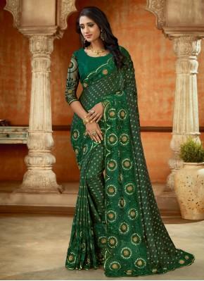 Preferable Green Wedding Designer Saree