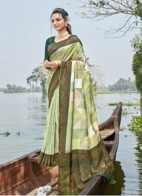Prepossessing Printed Saree For Casual