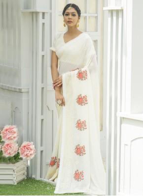 Pretty Embroidered Festival Designer Traditional Saree