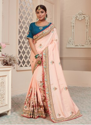 Pretty Pink Sangeet Traditional Designer Saree