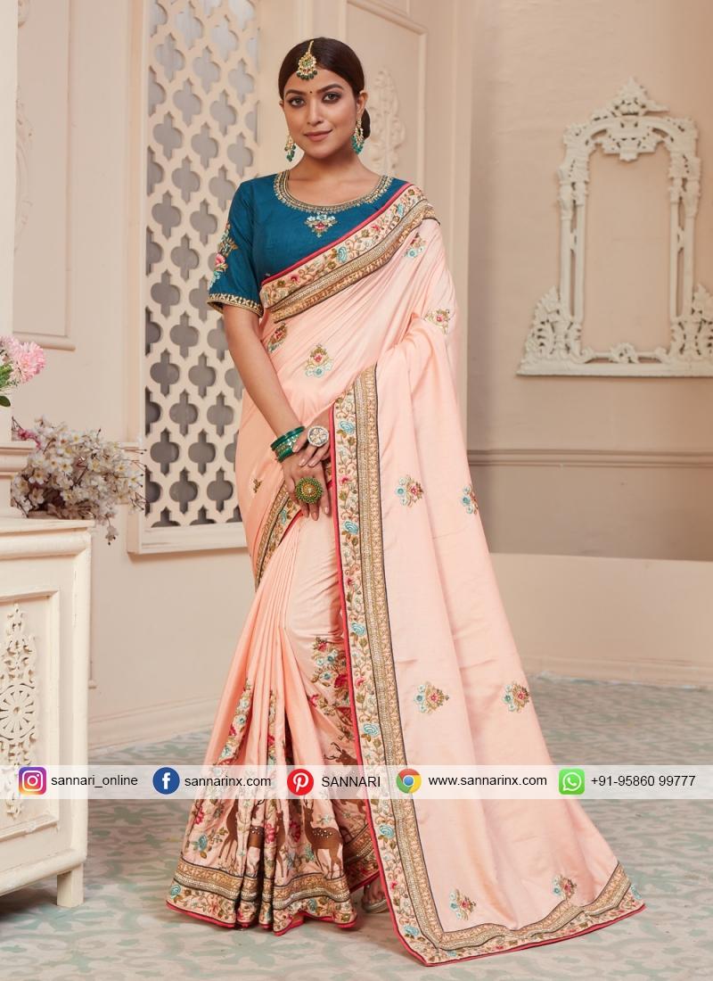 Pretty Pink Sangeet Traditional Designer Saree