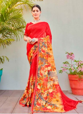 Princely Abstract Print Party Printed Saree