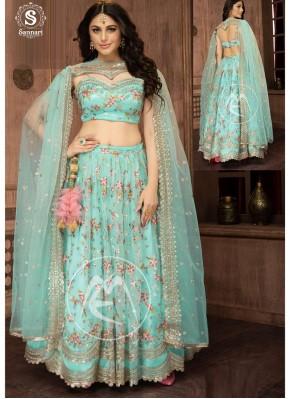 Princely Net Embroidered Designer Readymade Lehngha Choli