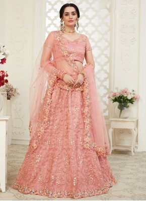 Princely Pink Wedding Trendy Lehenga Choli