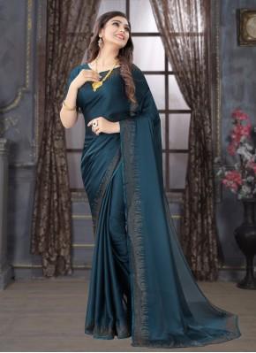 Princely Stone Satin Trendy Saree
