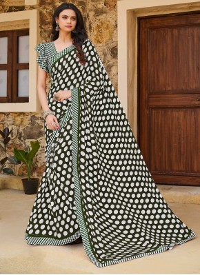 Print Weight Less Traditional Saree in Grey