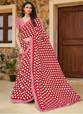 Print Weight Less Traditional Saree in Pink