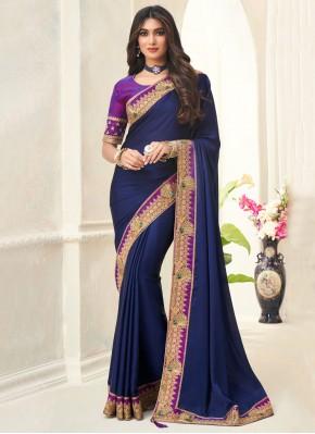 Pristine Blue Silk Contemporary Saree