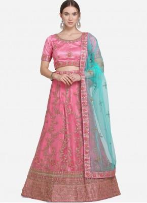 Pristine Pink Net Lehenga Choli