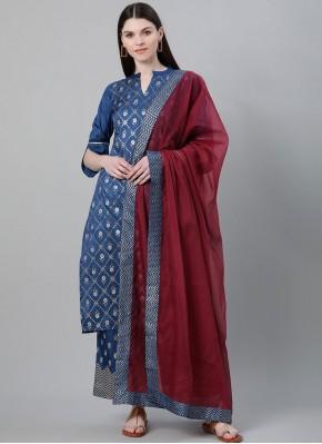 Pristine Poly Silk Print Bollywood Salwar Kameez