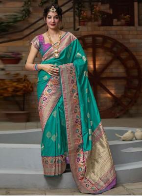 Pristine Weaving Silk Designer Bollywood Saree