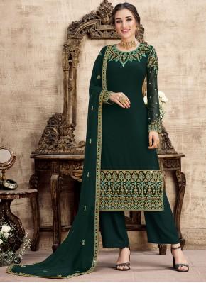 Prodigious Embroidered Designer Palazzo Salwar Suit
