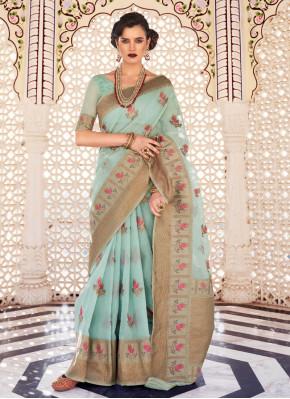 Prodigious Linen Woven Designer Saree