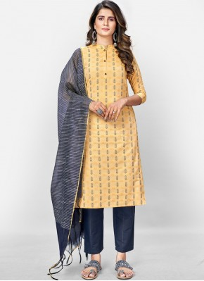 Prominent Yellow Festival Readymade Suit