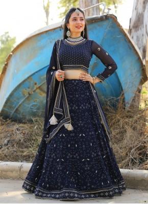 Pure Chiffon Designer Readymade Lehngha Choli for Ceremonial