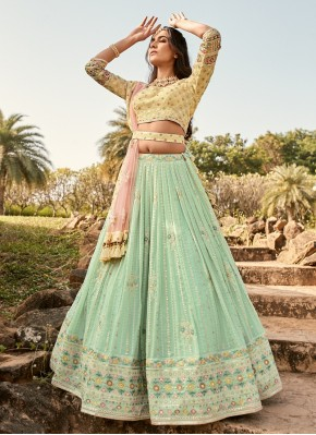 Pure Georgette Designer Readymade Lehngha Choli for Engagement
