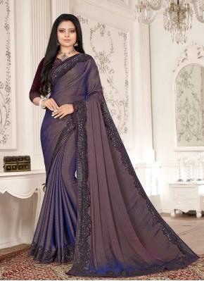 Purple Fancy Fabric Designer Saree