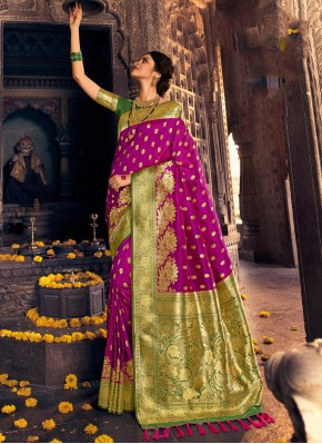 Purple Fancy Traditional Designer Saree