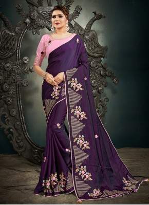 Purple Sangeet Designer Traditional Saree