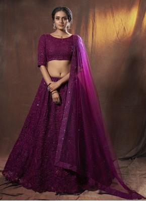 Purple Sangeet Lehenga Choli
