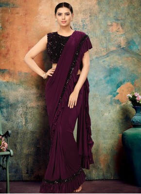 Purple Wedding Traditional Designer Saree