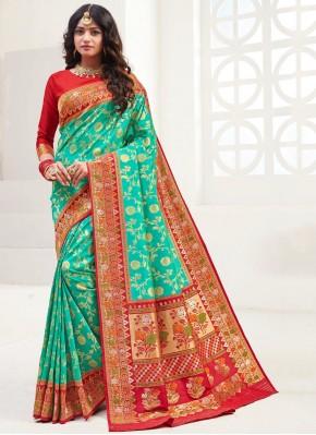 Radiant Green Silk Classic Saree