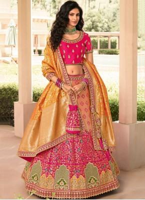 Radiant Resham Banarasi Silk A Line Lehenga Choli