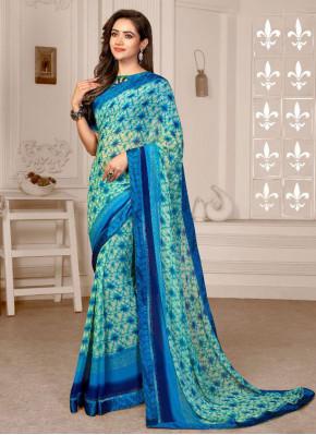 Radiant Satin Printed Saree