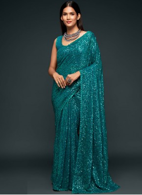 Rama Color Trendy Saree
