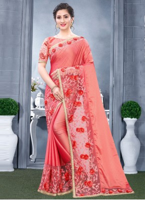 Rangoli Resham Pink Designer Traditional Saree