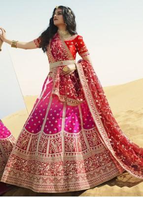 Rani and Red Sangeet A Line Lehenga Choli