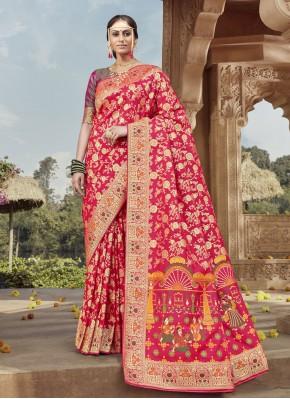 Rani Festival Banarasi Silk Traditional Designer Saree