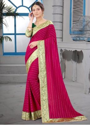 Rani Patch Border Silk Traditional Saree