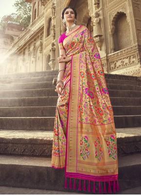 Rani Weaving Designer Traditional Saree