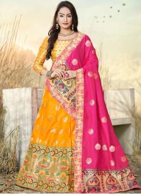 Ravishing Embroidered Banarasi Silk Trendy A Line Lehenga Choli