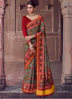 Ravishing Patola Silk  Multi Colour Fancy Designer Saree