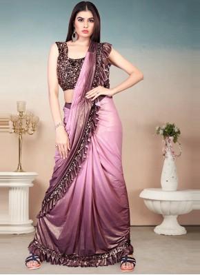 Ravishing Sequins Shaded Saree